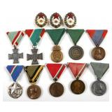 HUNGARY MIXED LOT OF 13 HUNGARIAN MEDALS & BADGES