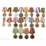RUSSIA USSR MIXED LOT OF 20 SOVIET MEDALS