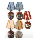 RUSSIA USSR MIXED LOT OF 5 SOVIET ORDER MEDALS
