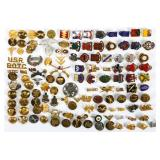 WWII US ARMED FORCES MIXED LOT OF INSIGNIA