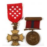 WWII USMC MARINE CORPS NAMED GC AND BREVET MEDAL