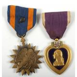 WWII AAF NAMED GROUP OF PURPLE HEART AND AIR MEDAL