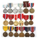 US ARMED FORCES MIXED LOT OF 18 MEDALS