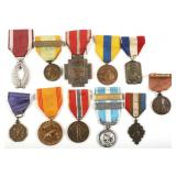WWII FRENCH MILITARY MEDAL LOT OF 11