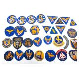 WWII US ARMY AIR FORCE PATCH LOT OF 30