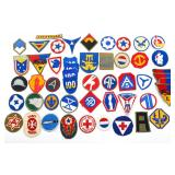 WWII US ARMY PATCH MIXED LOT OF 50