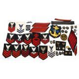 WWII US NAVY PATCH MIXED LOT OF 40