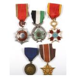 ISLAMIC WORLD OF MILITARY MEDAL LOT OF 5
