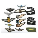 WWII WORLD PILOT WINGS PATCH MIXED LOT OF 14