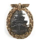 WWII GERMAN HIGH SEAS FLEET BADGE BY SCHWERIN