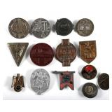 WWII GERMAN TINNIES BADGE INSIGNIA MIXED LOT OF 14