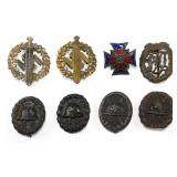 WWII GERMAN BADGE INSIGNIA MIXED LOT OF 8