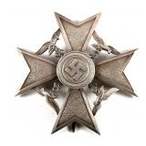 WWII GERMAN SPANISH CROSS IN SILVER WITHOUT SWORDS