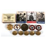 WWII GERMAN INSIGNIA BUTTON AND MORE MIXED LOT