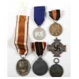 WWII GERMAN MEDAL LOT OF 6