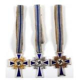 WWII GERMAN MOTHER CROSS 1ST 2ND AND 3RD CLASS LOT