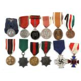 WWII GERMAN MILITARY MEDAL LOT OF 12