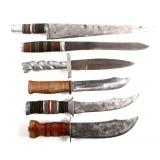WWII US FORCES THEATER MADE TRENCH KNIFE LOT OF 6
