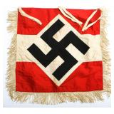 WWII GERMAN HITLER YOUTH TRUMPET BUGLE BANNER
