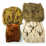 WWII GERMAN ARMY RUCKSACK BACKPACK LOT OF 4