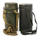 WWII GERMAN ARMY EARLY GAS MASK LOT OF 2