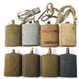 WWII BRITISH ARMY CANTEEN LOT OF 8