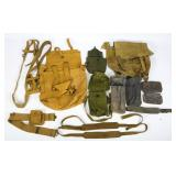 WWII BRITISH ARMY WEB GEAR MIXED LOT