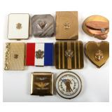 WWII MILITARY MAKEUP COMPACT SWEATHEART LOT OF 10