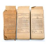 WWII US NONCOMBATANT GAS MASK M1A2-1-1 LOT OF 3