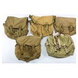 WWII USMC USN & ARMY MUSETTE FIELD BAG LOT OF 5