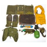 WWII USN & US ARMY AIR FORCE FLIGHT GEAR LOT