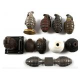WWII US JAPAN AND GERMANY GRENADE MIXED LOT