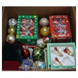 Large Box of Christmas Tree Ornaments