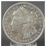 1921-D Morgan Unc. Silver Dollar