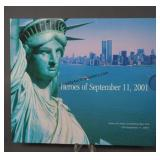 Sept. 11 2001 Heroes Stamp and New York Quarter