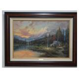 Thomas Kinkade S/N Canvas Print Evening Majesty