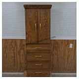 Oak Swivel Lingerie Chest with Mirror by Arbek