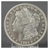 1921 Morgan BU Silver Dollar