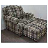 La Z Boy Oversized Chair Club Chair with Ottoman