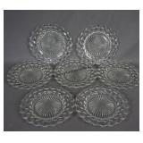 American Fostoria 7pc. Dinner Plate Set