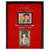 Elvis The King 999 Silver 1oz Bar & Stamp Set