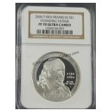 2006-P Franklin Founding Father PR70 Silver Dollar