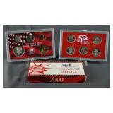2000-S U.S. Mint Silver 10 Coin Set