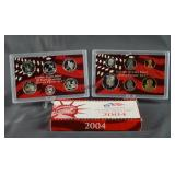 2004-S U.S. Mint Silver 10 Coin Set