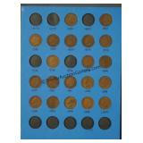20 Indian Head Pennies 1882-1909 On Book Card