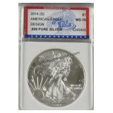 2014 American Silver Eagle IGS MS 70