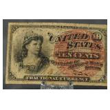 c.1870 U.S. Fractional Currency 10 Cent Note