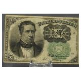 1874 U.S. Fractional Currency 10 Cent Note