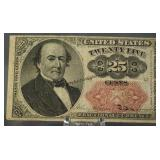 1874 U.S. Fractional Currency 25 Cent Note