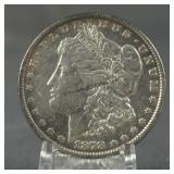 1878 Morgan Silver Dollar 7 Tail Feather